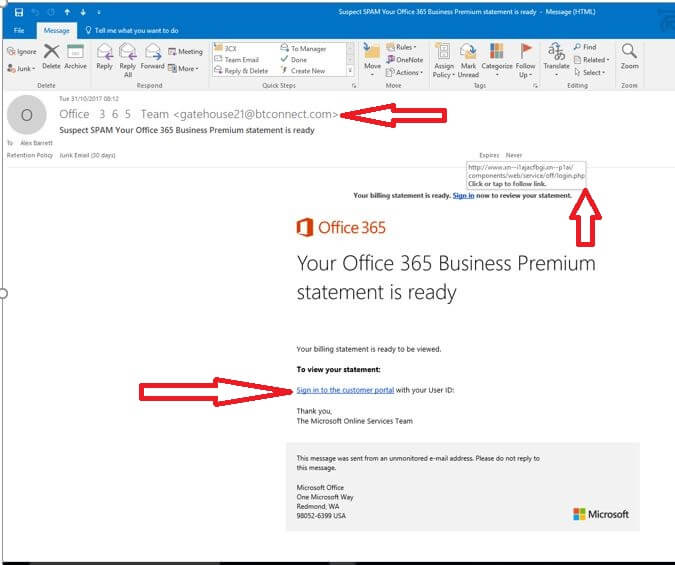 Office 365 Phishing